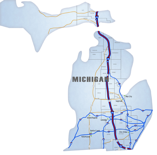 Michigan National I 73 I 74 I 75 Corridor Association